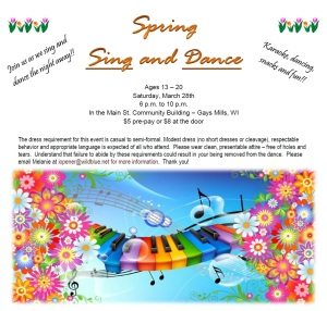 Spring Sing & Dance March 2015 flyer only
