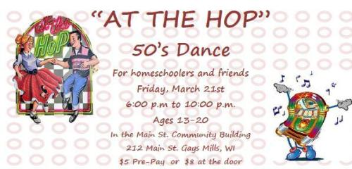 Dance Flyer Header - At The Hop