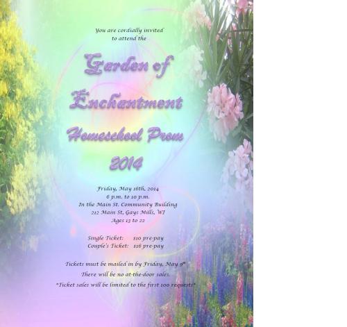 prom 2014 invitation