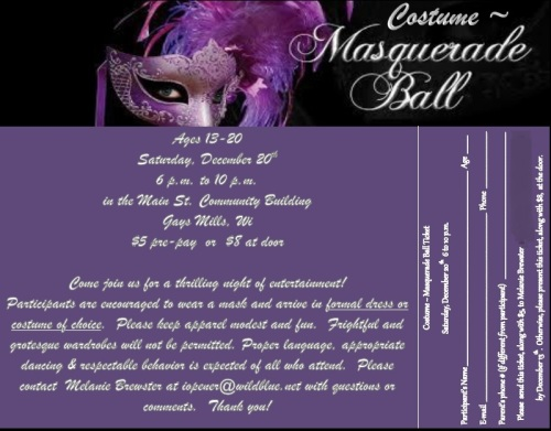Masquerade Flyer 1 address blocked